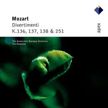Ton Koopman & Amsterdam Baroque Orchestra - Mozart : Divertimenti K136, K137, K138 & K251