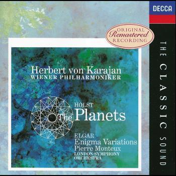 Herbert von Karajan / Pierre Monteux / London Symphony Orchestra / Wiener Philharmoniker / Wiener Staatsopernchor - Elgar: Enigma Variations / Holst:The Planets