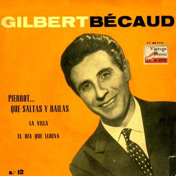"Gilbert Becaud - Vintage French Song Nº 38 - EPs Collectors ""Il Fait Des Bonds… Le Pierrot Qui Danse"""