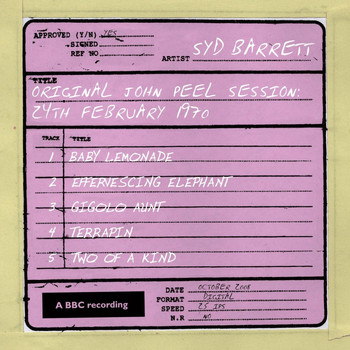 Syd Barrett - Original John Peel Session: 24th February 1970
