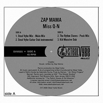 Zap Mama - Miss Q-n (remixes)