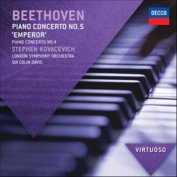 """Sir Colin Davis / London Symphony Orchestra / Stephen Kovacevich - Beethoven: Piano Concerto No.5 - """"Emperor"""";  Piano Concerto No.4"""