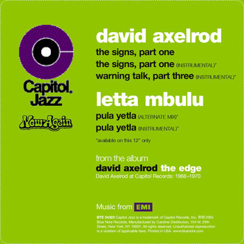 David Axelrod - The Signs