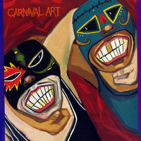 Carnival Art - Wrestling Swamis Vs. Mr. Blue Veins