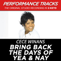Cece Winans - Bring Back the Days of Yea & Nay (Performance Tracks) - EP