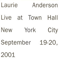 Laurie Anderson - Live in New York
