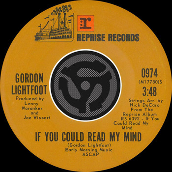 Gordon Lightfoot - If You Could Read My Mind / Poor Little Allison [Digital 45]