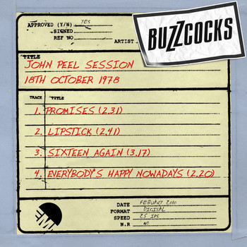 Buzzcocks - John Peel Session [18th October 1978] (18th October 1978)