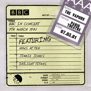 The Vapors - BBC In Concert [7th March 1981] (7th March 1981)