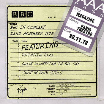 Magazine - BBC In Concert 22nd November 1978