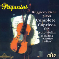 "Ruggiero Ricci - PAGANINI: Ricci plays Complete Caprices for solo violin including ""Caprice d'adieu"""