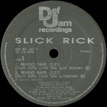 Slick Rick - Behind Bars (Remixes [Explicit])