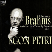Egon Petri - Brahms: Variations on a Theme by Paganini, Op. 35