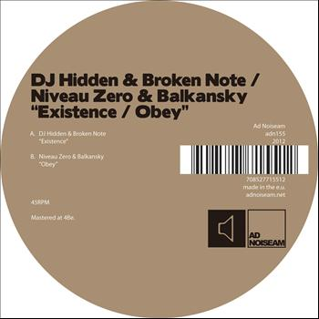 DJ Hidden - Existence / Obey - Single