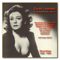Zarah Leander - Icons of German Cinema: Zarah Leander in Stockholm, Vol. 1 (1930-1953)