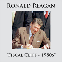 Ronald Reagan - Fiscal Cliff - 1980s