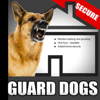 Sound Effects - Guard Dogs – Random Barking and Growling Dog Sounds for Added Home Security When the House Is Empty