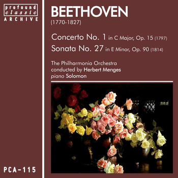 Philharmonia Orchestra - Beethoven: Concerto No. 1 in C Major, Op. 15 & Sonata No. 27 in E Minor, Op. 90