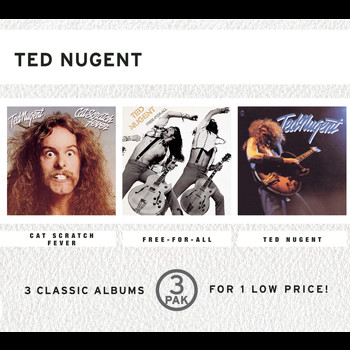 Ted Nugent - Cat Scratch Fever/Free-For-All/Ted Nugent (3 Pak)