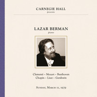 Lazar Berman - Lazar Berman at Carnegie Hall, New York City, March 11, 1979