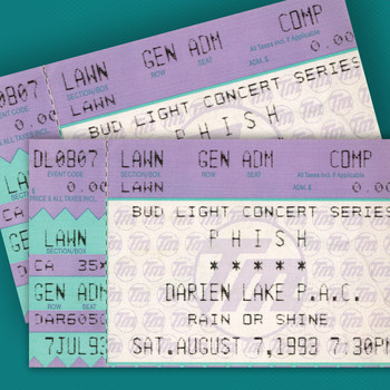 Phish - 8/7/93 Darien Lake Performing Arts Center, Darien Center, NY (Live)