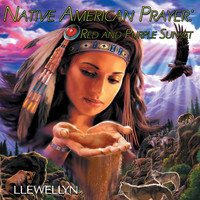 Llewellyn - Native American Prayer - Red and Purple Sunset