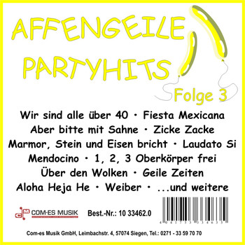 Various Artists - Affengeile-Partyhits, Folge 3