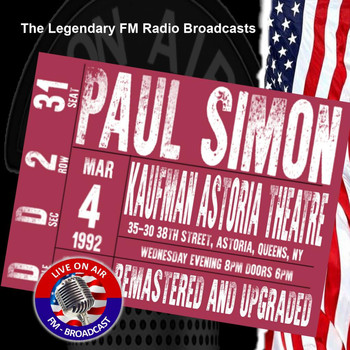 Paul Simon - Legendary FM Broadcasts - Kaufman Astoria Theatre, Queens NY 4th March 1992