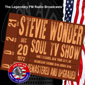 Stevie Wonder - Legendary FM Broadcasts - Soul TV Show, WNET Studios NYC NY 20th December 1972