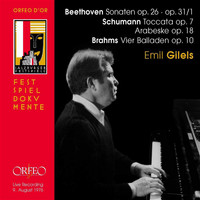 Emil Gilels - Beethoven, Schumann & Brahms: Piano Works (Live)