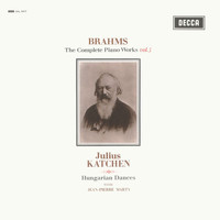Julius Katchen - Brahms: Hungarian Dances; Variations on a Theme by Paganini