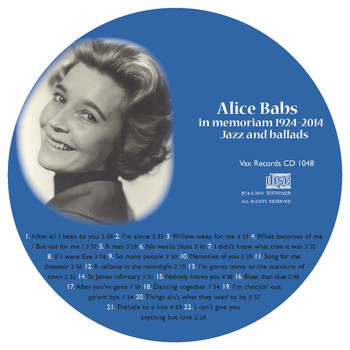 Alice Babs - Alice Babs in Memoriam 1924-2014: Vi Minns Alice Babs 1924-2014: Jazz and Ballads
