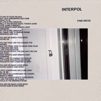 Interpol - Fine Mess