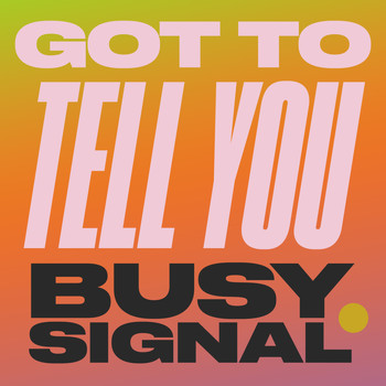 Busy Signal - Got To Tell You