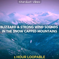 Stardust Vibes - Blizzard & Strong Wind Sounds in the Snow Capped Mountains: One Hour (Loopable)