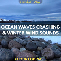 Stardust Vibes - Ocean Waves Crashing & Winter Wind Sounds