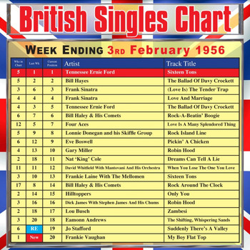 Various Artists - British Singles Chart - Week Ending 3 February 1956