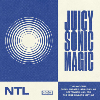The National - Juicy Sonic Magic, Live in Berkeley, September 24-25, 2018