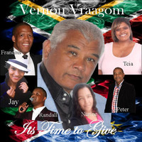 Vernon Vraagom with Francois, Peter, Laetitia, Nurine, Randall and Janyla - It's Time To Give