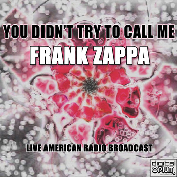 Frank Zappa - You Didn't Try To Call Me (Live)